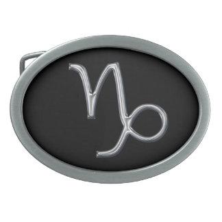 Couleur de Signe-Chrome de zodiaque de Capricorne Boucle De Ceinture Ovale