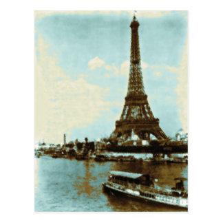 Couleur d'eau vintage de Paris Carte Postale
