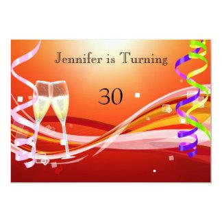 Couleur décolorée par le soleil d'invitation carton d'invitation  12,7 cm x 17,78 cm