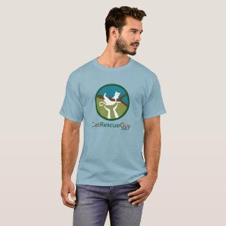 Couleur foncée de base, grand logo t-shirt