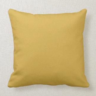 Couleur jaune de moutarde coussin décoratif