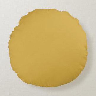 Couleur jaune de moutarde coussins ronds