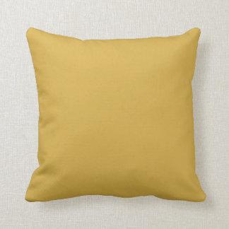Couleur jaune de moutarde oreiller