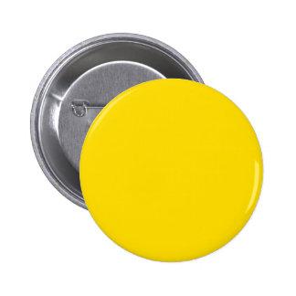 Couleur jaune Pinback rond Badges