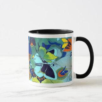 Couleur mignonne de mosaïque de papillon conçue mug