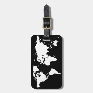 couleur personnalisable de ~ de cartes du monde étiquette pour bagages