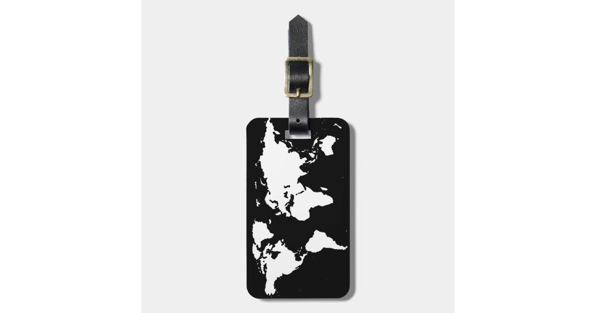couleur personnalisable de de cartes du monde tiquette pour bagages zazzle. Black Bedroom Furniture Sets. Home Design Ideas