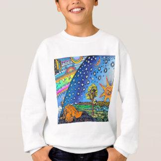 COULEUR plate de carré de conception de la terre Sweatshirt