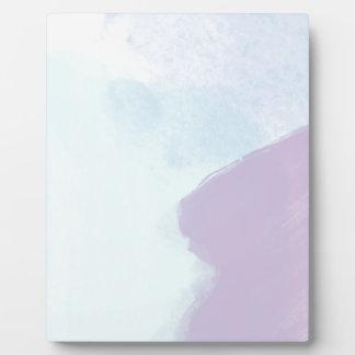 Couleur pour aquarelle lilas bleue impression sur plaque