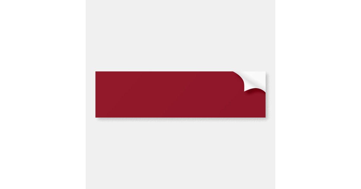 couleur rouge fonc de bourgogne de vin seulement autocollant pour voiture zazzle. Black Bedroom Furniture Sets. Home Design Ideas