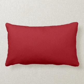 Couleur solide : Rouge de canneberge Coussin Décoratif