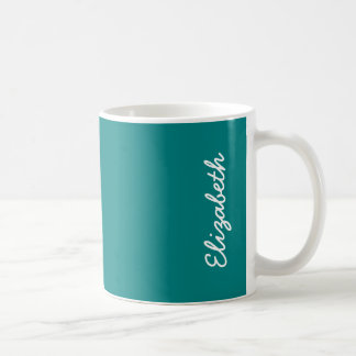 Couleur solide turquoise mug