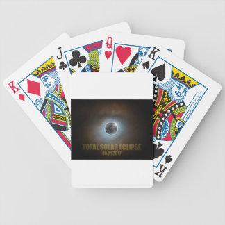 Couleur totale des textes de couronne de l'éclipse jeu de cartes