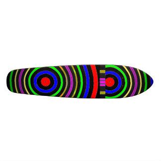 Couleur VRAIE : Vagues circulaires d'énergie Plateaux De Skateboards