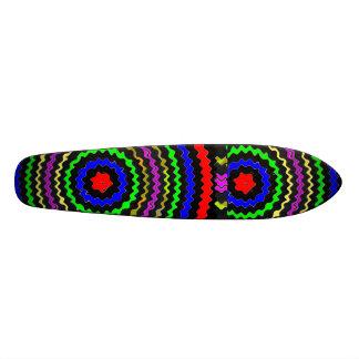 Couleur VRAIE : Vagues circulaires d'énergie Skateboard Customisable