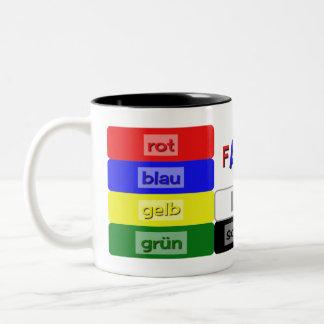 couleurs allemandes apprenant le vocabulaire tasse 2 couleurs