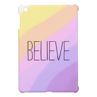 couleurs au néon lumineuses mignonnes de licorne coques pour iPad mini