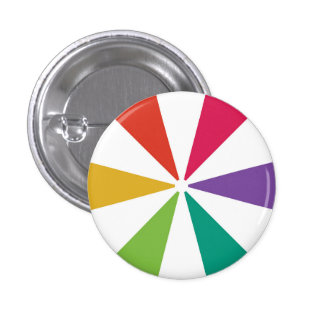Couleurs colorées du motif 6 badge
