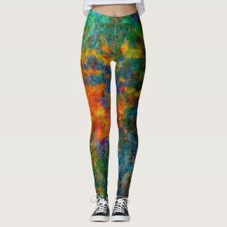 Couleurs d'arc-en-ciel d'art abstrait leggings
