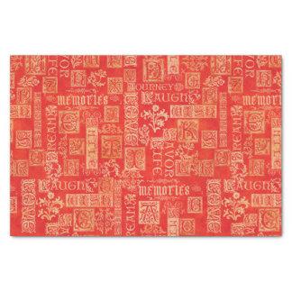 Couleurs d'automne de vers de conception de papier mousseline