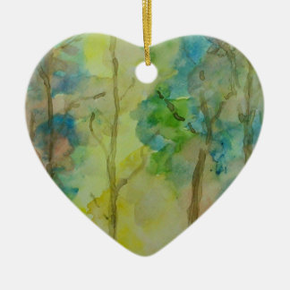 Couleurs d'automne ornement cœur en céramique