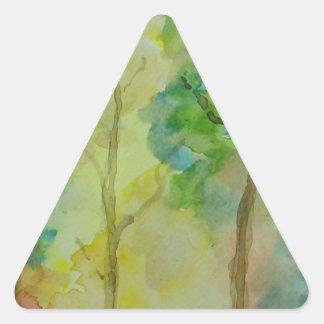 Couleurs d'automne sticker triangulaire