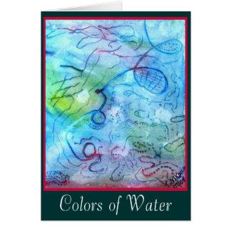 Couleurs de carte de l'eau