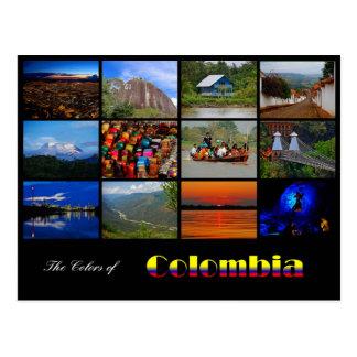 Couleurs de carte postale de voyage de la Colombie