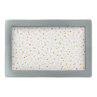 couleurs de confettis boucle de ceinture rectangulaire