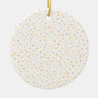 couleurs de confettis ornement rond en céramique