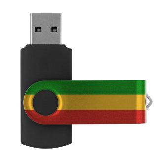 COULEURS DE DRAPEAU DE RASTAFARI + vos idées Clé USB 2.0 Swivel