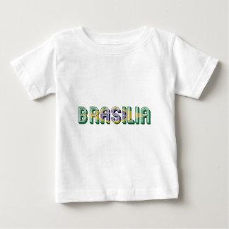 Couleurs de drapeau de typographie de Brasilia T-shirt Pour Bébé