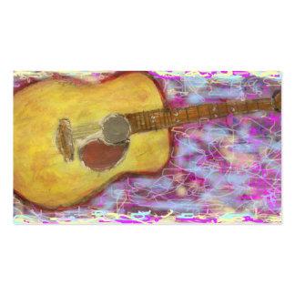 Couleurs de guitare acoustique carte de visite standard