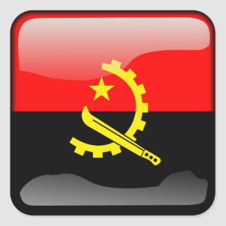 Couleurs de l'Angola Stickers Carrés