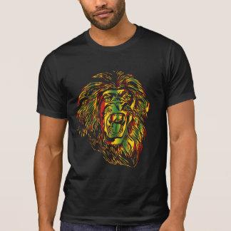 Couleurs de reggae de lion de T-shirt de Rasta