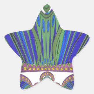 Couleurs décoratives africaines de conception sticker étoile