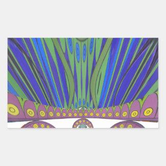 Couleurs décoratives africaines de conception sticker rectangulaire