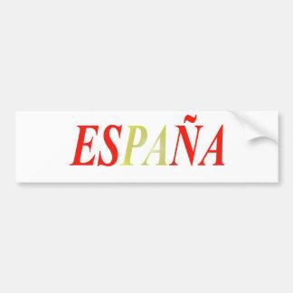Couleurs Drapeau Espagne Autocollant De Voiture
