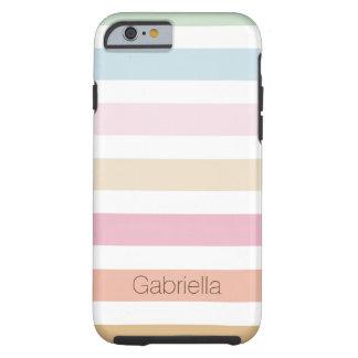 couleurs en pastel fines modernes coque tough iPhone 6