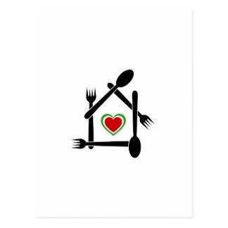 Couleurs italiennes de cuisine du drapeau italien carte postale