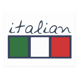 Couleurs italiennes de drapeau ! carte postale