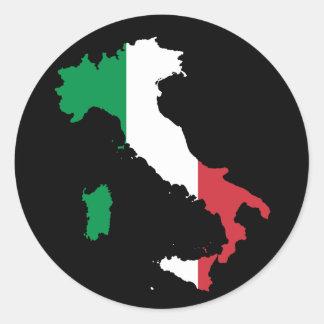 Couleurs italiennes sur la botte sticker rond