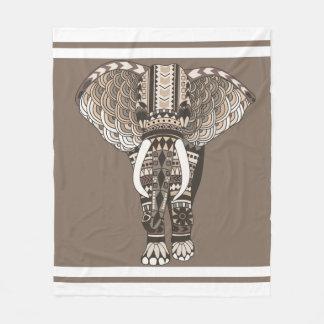 Couleurs neutres de Taupe d'éléphant tribal Couverture Polaire