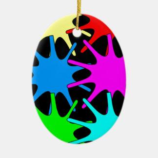couleurs ornement ovale en céramique
