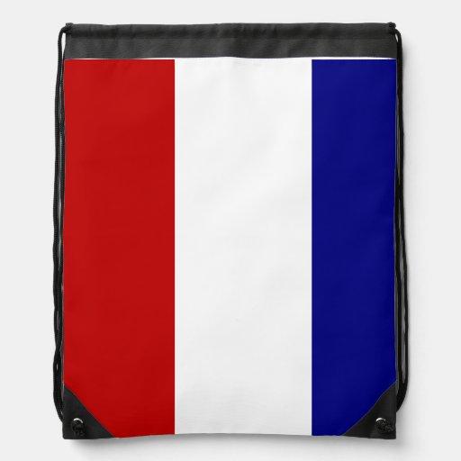 Couleurs patriotiques sacs avec cordons