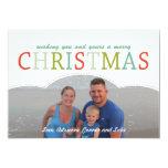 Couleurs simples de mod de carte de Noël de Invitations Personnalisées