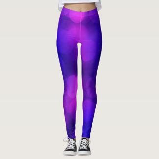 Couleurs violettes abstraites leggings