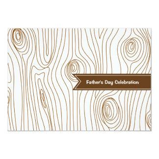 Coup à l'invitation en bois