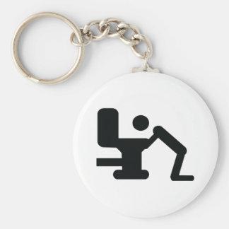 coup au-dessus d'icône porte-clé rond