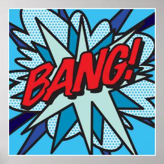 COUP d'art de bruit de bande dessinée ! Poster
